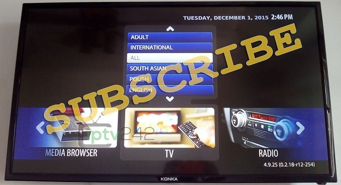 Subscribe to the iptv euro pack
